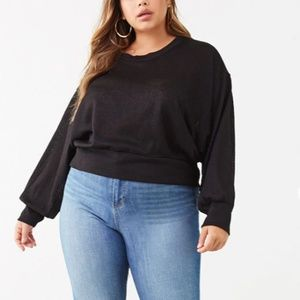 Plus size (3X) forever 21 black knit sweater